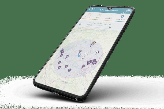 application mobile geolocalisation chantiers btp